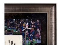 Lionel Messi Signed Barcelona LE 36x36 Custom Framed Tegata Display (UDA COA) at PristineAuction.com