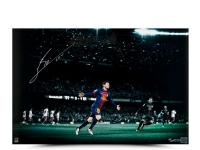 "Lionel Messi Signed Barcelona ""Colors of the Game"" 16x24 Photo (UDA COA) at PristineAuction.com"