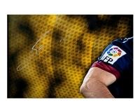 "Lionel Messi Signed Barcelona ""Flea Flicker"" LE 34x49 Custom Framed Soccer Ball Breakthrough Display (UDA COA) at PristineAuction.com"