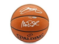 Magic Johnson & LeBron James Signed LE Spalding Basketball (UDA COA)
