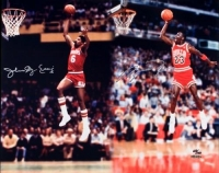 "Michael Jordan & Julius ""Dr. J"" Erving Signed 16x20 Limited Edition Photo (UDA COA)"