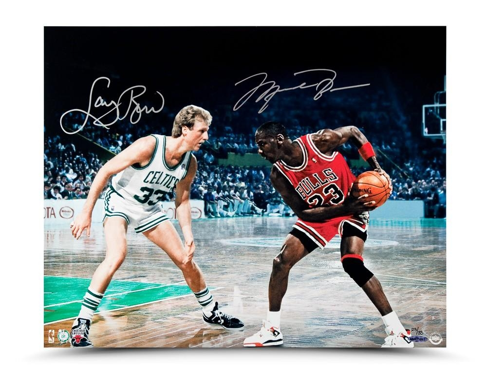 "Michael Jordan & Larry Bird Signed ""Battle Tested"" LE 16x20 Photo (UDA COA) at PristineAuction.com"