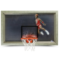 "Michael Jordan Signed Bulls ""1988 Slam Dunk"" 18x30 Custom Framed Backboard Display (UDA COA)"