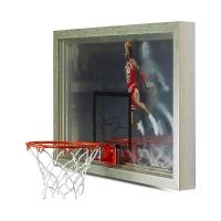 "Michael Jordan Signed Chicago Bulls ""1988 Slam Dunk"" 18x30 Custom Framed Backboard Display (UDA COA) at PristineAuction.com"