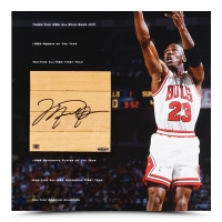 "Michael Jordan Signed Bulls 42x22 Custom Framed Game-Used Floor Piece & ""Storied"" Photo Display (UDA COA) at PristineAuction.com"