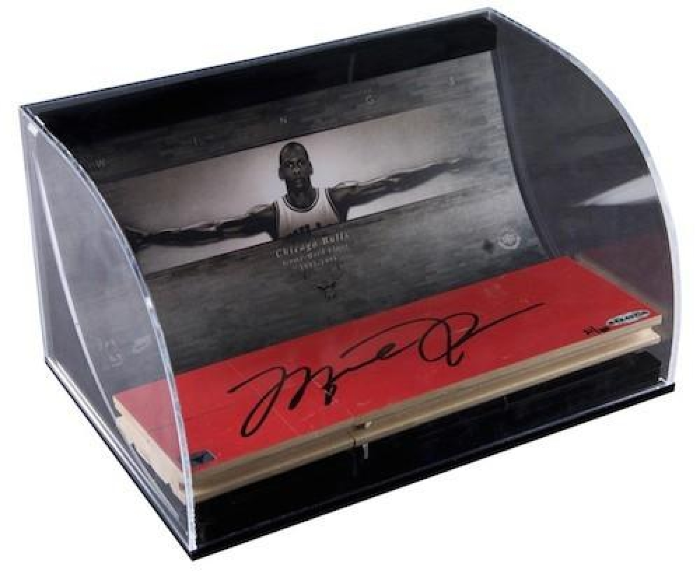 "Michael Jordan Signed ""Wings"" Game Used Floor Piece Display (UDA COA) at PristineAuction.com"