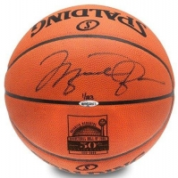 "Michael Jordan Signed LE Spalding ""50th Anniversary"" Basketball with Display Case (UDA COA)"