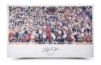 "Michael Jordan Signed Bulls ""98 Last Shot vs. Jazz"" 22x36 Print (UDA COA) at PristineAuction.com"