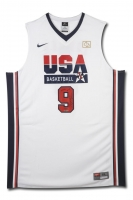 "Michael Jordan Signed LE Team USA Jersey Inscribed ""2009 HOF"" (UDA COA) at PristineAuction.com"