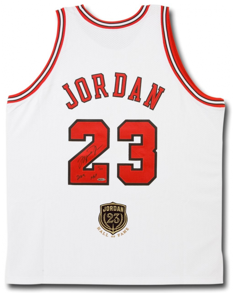 "Michael Jordan Signed LE Bulls Jersey Inscribed ""2009 HOF"" with Hall Of Fame Patch (UDA COA) at PristineAuction.com"