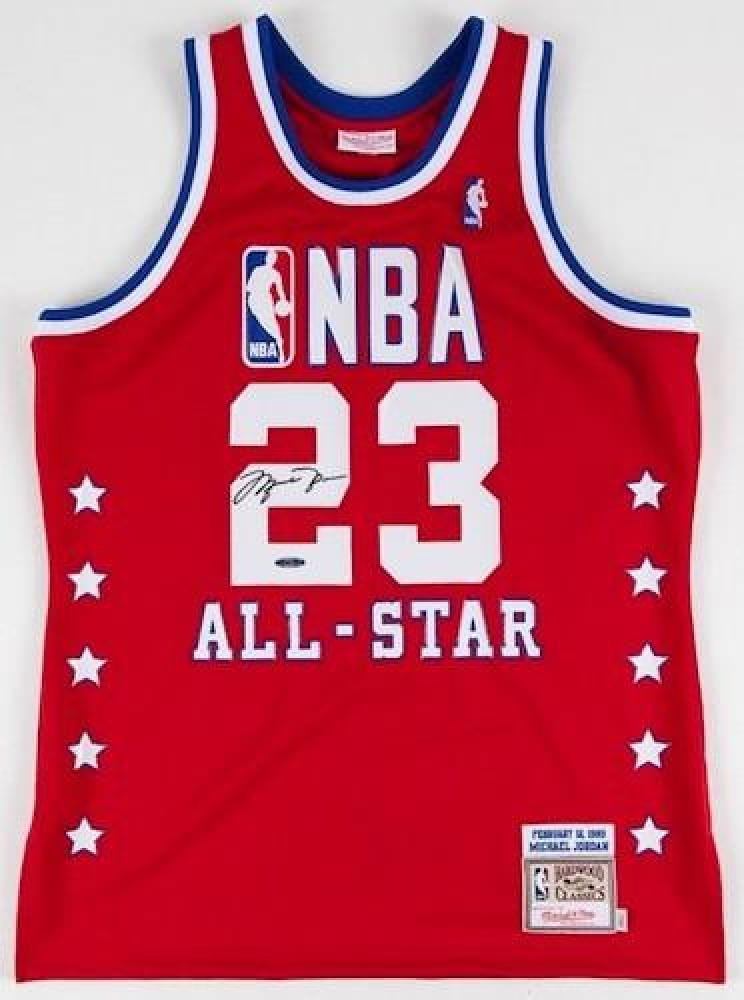 Michael Jordan Signed 1989 All Star Mitchell & Ness Throwback Jersey (UDA COA) at PristineAuction.com