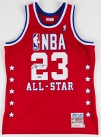 Michael Jordan Signed 1989 All Star Mitchell & Ness Throwback Jersey (UDA COA)