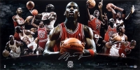 "Michael Jordan Signed ""2009 HOF"" 18x36 Photo (UDA COA)"