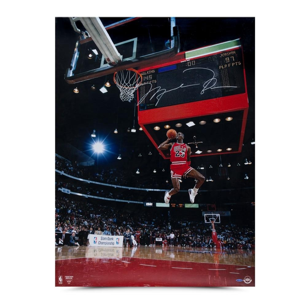"Michael Jordan Signed Bulls ""88 Scoreboard"" 30x40 Photo (UDA COA) at PristineAuction.com"