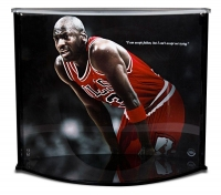 Michael Jordan Signed Spalding Basketball with Display Case (UDA COA) at PristineAuction.com