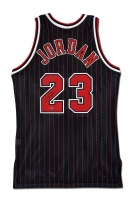 Michael Jordan Signed Bulls Mitchell & Ness Authentic 95-96 Pinstripe Jersey (UDA COA)