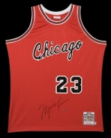 Michael Jordan Signed Chicago Bulls Mitchell & Ness Authentic Rookie Jersey (UDA COA)