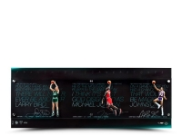 "Michael Jordan, Magic Johnson & Larry Bird Signed ""Franchise Cornerstone"" 48x18 Acrylic Display LE of 75 (UDA COA) at PristineAuction.com"