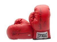 "Mike Tyson Signed Pair of Everlast Boxing Gloves Inscribed ""Baddest Man on the Planet"" & ""44 KOs"" (UDA COA)"