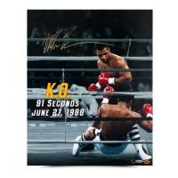 """Mike Tyson Signed """"91 Seconds"""" LE 16x20 Photo (UDA COA)"""