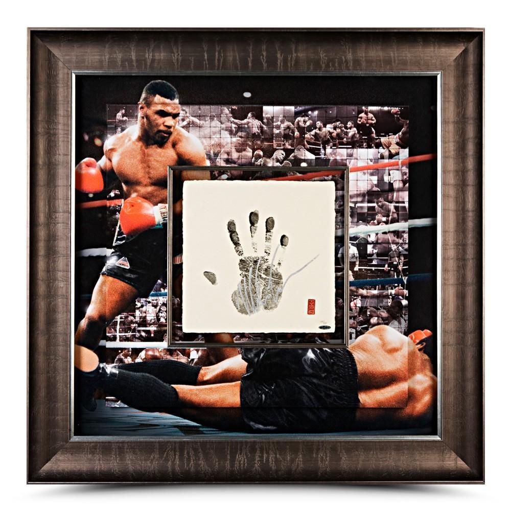 "Mike Tyson Signed ""Mosaic"" 36x36 Custom Framed Tegata Display (UDA COA) at PristineAuction.com"