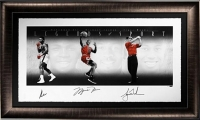 "Muhammad Ali, Michael Jordan & Tiger Woods Signed ""Legends of Sport"" LE 33x58 Custom Framed Photo (UDA COA)"