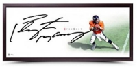 "Peyton Manning Signed Broncos ""The Show"" 20x46 Custom Framed Lithograph (UDA COA) at PristineAuction.com"