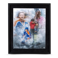 "Tiger Woods & Wayne Gretzky Signed ""Rarefied Air"" LE 20x24 Custom Framed Photo (UDA COA)"