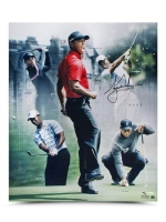 "Tiger Woods Signed ""PAR 5"" 20x24 Photo Collage LE 150 (UDA COA)"