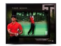 "Tiger Woods Signed ""Approach"" 16x20x2 Custom Framed Shadow Box Display (UDA COA)"