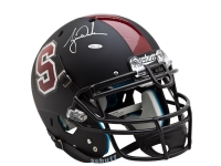 Tiger Woods Signed Stanford Cardinal Full-Size Matte Black Helmet (UDA COA) at PristineAuction.com