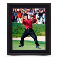 Tiger Woods Signed U.S. Open Champion 20x24 Cusom Framed Photo (UDA COA)