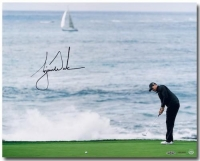 "Tiger Woods Signed ""Crashing Waves"" 16x20 Photo (UDA COA)"