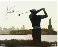 "Tiger Woods Signed ""Lady Liberty"" 16x20 Photo (UDA COA) at PristineAuction.com"