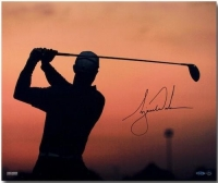"Tiger Woods Signed ""Sunrise"" 20x24 Photo (UDA COA) at PristineAuction.com"