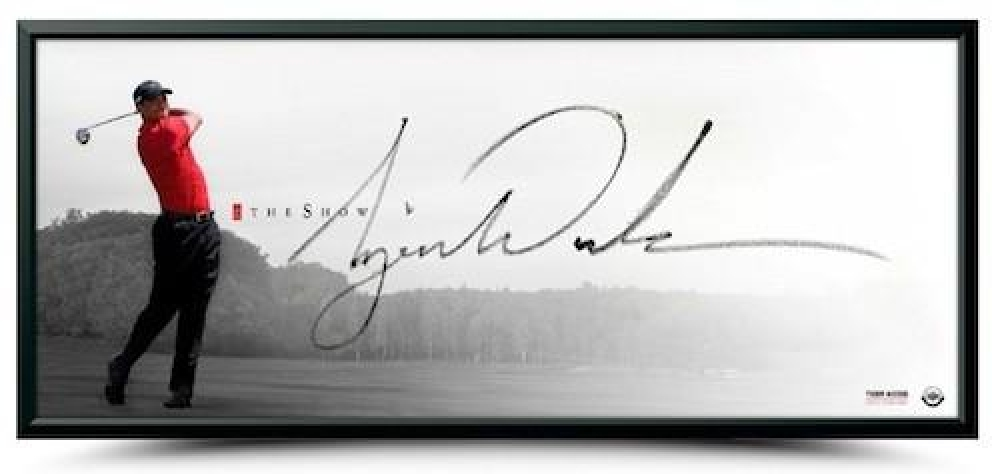 "Tiger Woods Signed ""The Show"" 20x46 Custom Framed Photo (UDA COA) at PristineAuction.com"