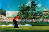 "Tiger Woods Signed ""2008 US Open"" LE 29x44 Giclee By Malcolm Farley (UDA COA)"