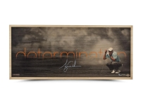 "Tiger Woods Signed ""Determination"" LE 11x26 Bamboo Print (UDA COA)"