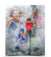 "Wayne Gretzky & Tiger Woods Signed LE ""Rarefied Air"" 16x20 Photo (UDA COA)"