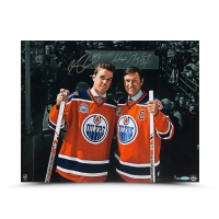 "Wayne Gretzky & Connor McDavid Signed Oilers ""Generations"" 16x20 Photo (UDA COA)"