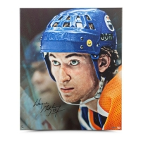 "Wayne Gretzky Signed Oilers ""Up Close & Personal"" 20x24 Canvas (UDA COA)"