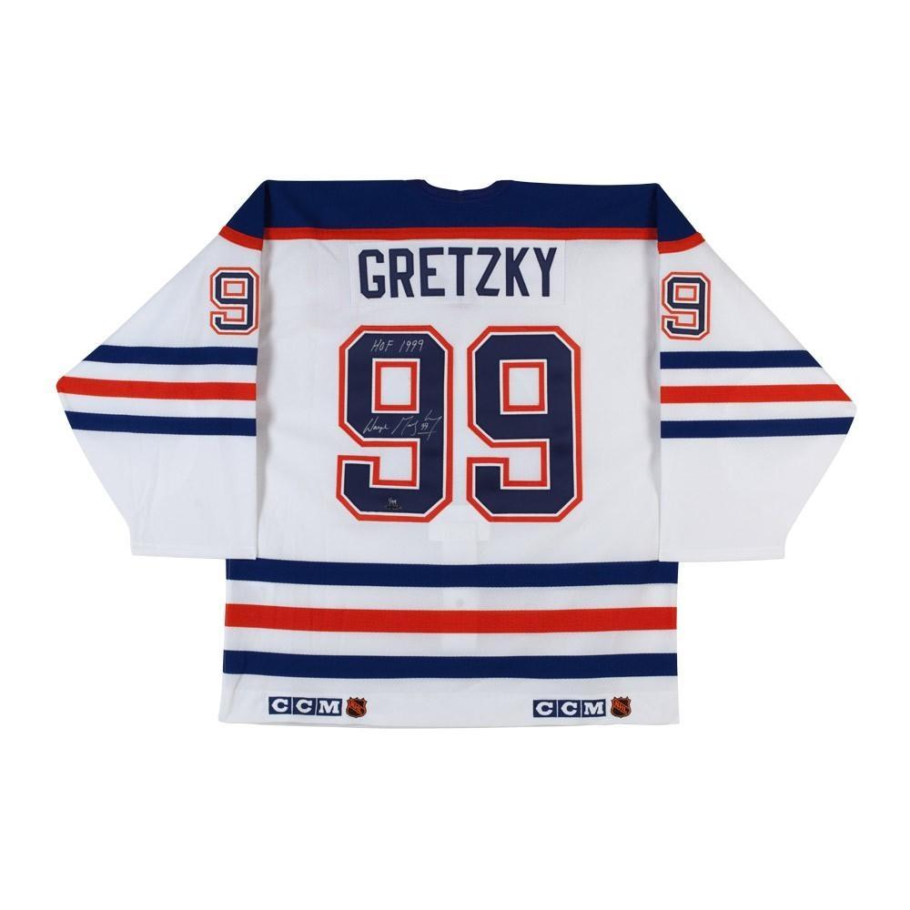 "Wayne Gretzky Signed Oilers CCM Jersey Inscribed ""HOF 1999"" (UDA COA) at PristineAuction.com"