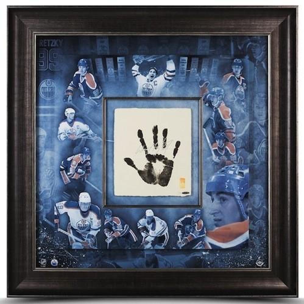 "Wayne Gretzky Signed ""Tegata"" 36x36 Custom Framed Hand-Stamped Career Mosaic LE 99 (UDA COA) at PristineAuction.com"