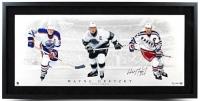 "Wayne Gretzky Signed ""Triple Threat"" LE 19x40 Custom Framed Photo (UDA COA)"