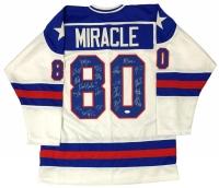 "1980 Team USA ""Miracle on Ice"" Jersey Signed by (20) Including Mike Eruzione, Jim Criag, Jack O'Callahan, Ken Morrow (JSA COA)"