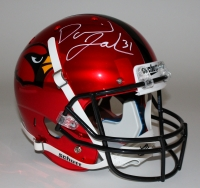 David Johnson Signed Cardinals Full-Size Custom Chrome Red Helmet (JSA COA)