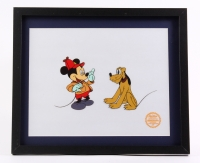 """Mickey Mouse and Pluto """"The Pointer Art"""" LE 14x17 Custom Framed Animation Sericel"""
