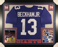 Odell Beckham Jr. Signed Giants 35x43 Custom Framed Jersey (JSA COA) at PristineAuction.com