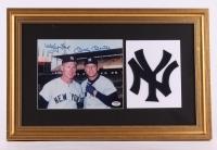 Mickey Mantle & Whitey Ford Signed Yankees 15x23 Custom Framed Display (PSA LOA)
