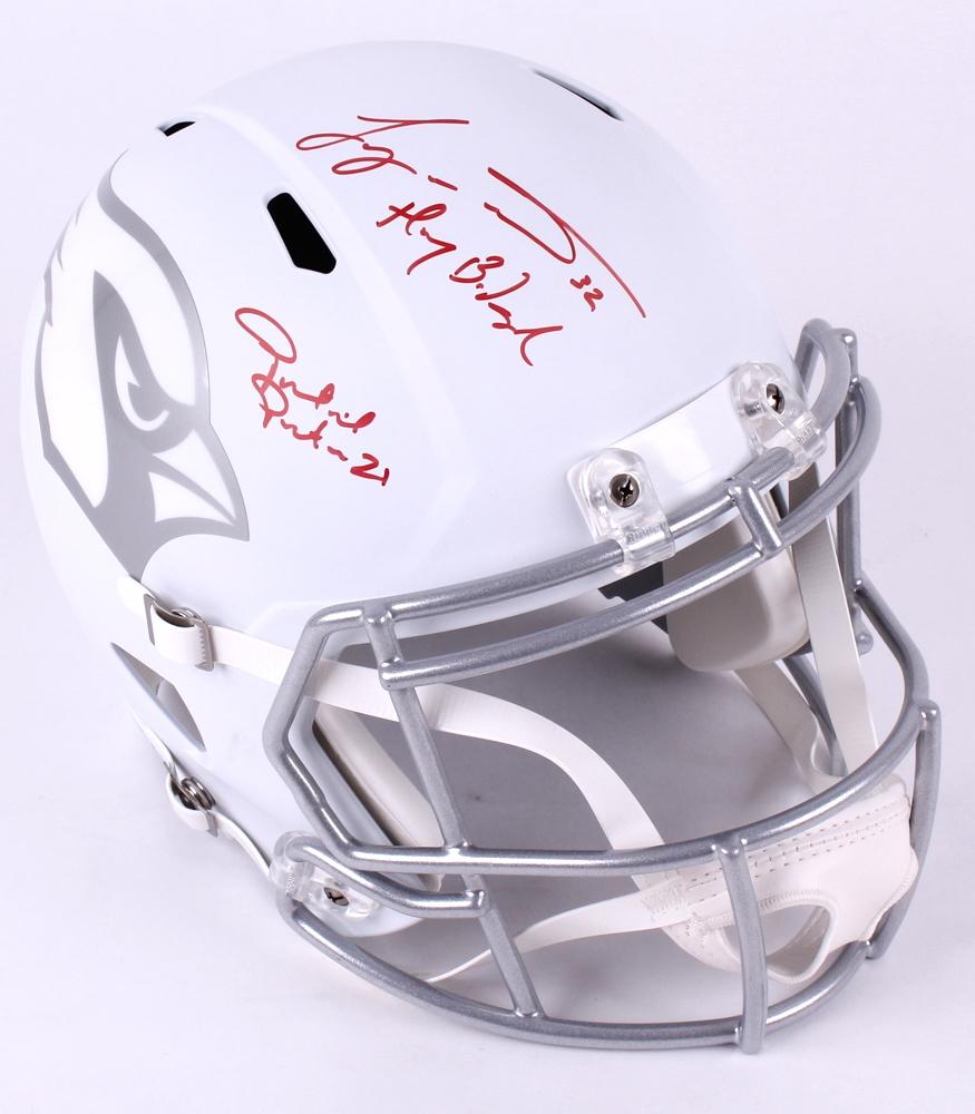 8dac760d0 Patrick Peterson   Tyrann Mathieu Signed Cardinals Full-Size Riddell Speed  Ice Helmet Inscribed